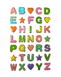 Comet Busters Colorful 3D Alphabet Stickers