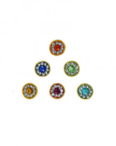Comet Busters Multicolor Bindis With Stone Work