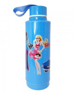 Comet Busters Blue Printed Insulated Water Bottle For Kids (600 ML)