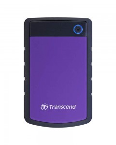 Transcend StoreJet 25H3P 2.5-inch 2TB Portable External Hard Drive (Purple)