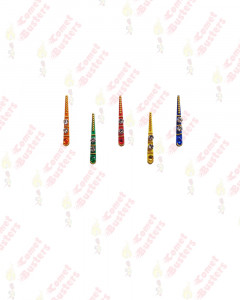 Comet Busters Multicolor Tilak Bindis With Gold Beads (15 mm)