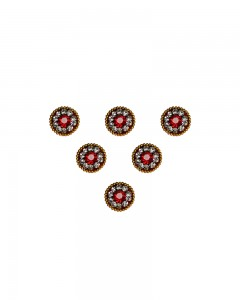 Comet Busters Traditional Maroon Bindi With Stone Work