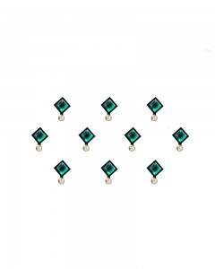 Comet Busters Beautiful Square Green Stone Bindi
