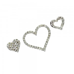 Comet Busters Silver Stone Work Temporary Heart Body Tattoo Body Jewels (BJ183)
