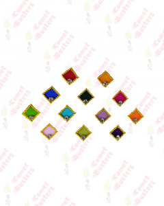 Comet Busters Beautiful Square Bindis With Golden Border