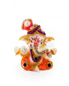 Comet Busters Polystone Ganesh Idols for Car Dashboard, Showpiece for Home & Office Decor