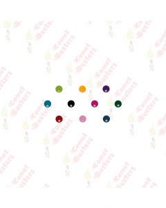 Comet Busters Multicolored Round Bindis With Stone (6 mm)