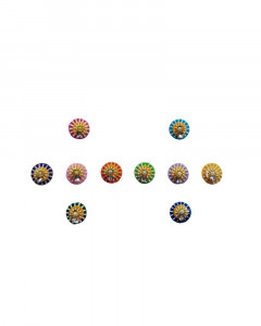 Comet Busters Multicolor Round Bindi With Stone