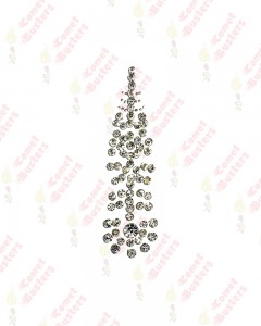 Comet Busters Premium Long Bridal Bindi Studded with Silver Stones