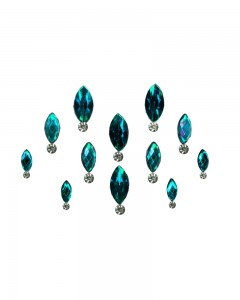 Comet Busters Blue Swarovski Crystal Bindis With Diamond