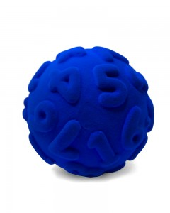 Rubbabu - Blue Numeral Ball (Large)