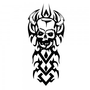 Comet Busters Black Arm Band/Back Temporary Water Tattoo Sticker (BJ168)