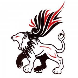 Comet Busters Black and Red Temporary Water Tattoo (BJ140)