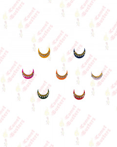 Comet Busters Fancy Multicolored Moon Bindi With Stone