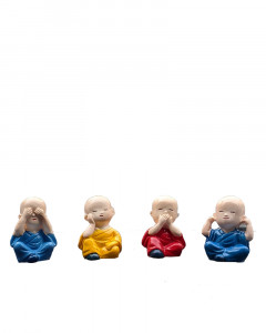 Comet Busters Cute Buddha Baby Monks Statues (Set of 4)