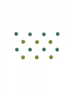 Comet Busters Traditional Round Blue Green Bindi