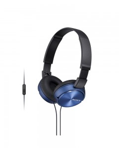 SONY MDR-ZX310AP Sound Monitoring Headphones | Blue