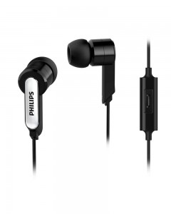 Philips SHE1405BK/94 In-Ear Headphone Headset With Mic | Black