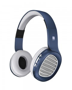 iBall Decibel BT01 Headset with Mic | Blue, White and Silver