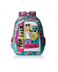Barbie Polyester Turquoise and Pink Children's Bag (Age group :6-8 yrs)