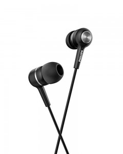 Philips SHE1505 Wired Headset with Mic | Black, in The Ear