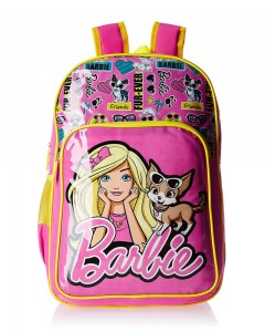 Barbie Pink and Yellow Children's Bag (Age group :8-12 yrs)