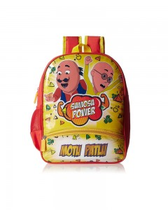 Motu Patlu Yellow & Red Children Bag