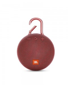 JBL Clip 3 Ultra-Portable Wireless Bluetooth Speaker with Mic | Red