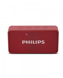 Philips BT64R Portable Bluetooth Speakers (Red)