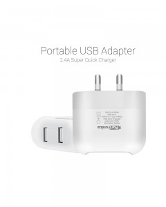 Portronics POR-542 Portable USB Adapter (White)