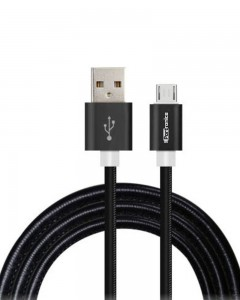 Portronics Turtle | 1m | Micro USB Cable | Black |