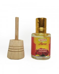 Sugandhim Fragrance Diffuser for Car and Room (Rose)