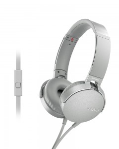 Sony MDR-XB550AP | Headphones With Mic | White |