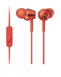 Sony MDR EX255AP | In-Ear Headphones | Mic | Red
