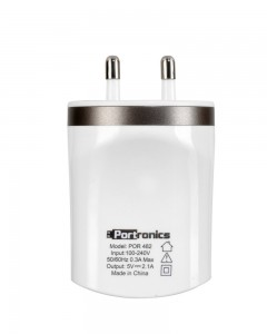 Portronics por 482 Dual USB Charger | White