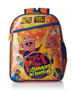 Motu Patlu Blue and Orange Children's Bag (Age group :3-5 yrs)