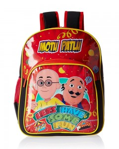 Motu Patlu Red and Black Children's Bag (Age group :6-8 yrs)