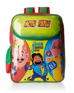 Motu Patlu Green and Red Children's Bag (Age group :6-8 yrs)