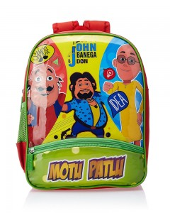 Motu Patlu Green and Red Children Bag (Age group :8-12 yrs)