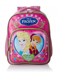 Frozen Pink and Green Children's Bag (Age group : 6-8 yrs)