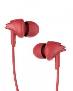 Boat BassHeads 100 Hawk Inspired Earphones with Mic | Furious Red