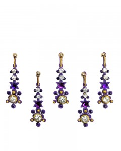 Comet Busters Purple Designer Party Wear Bindi