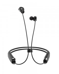 Boat Rockerz 325 Wireless Flexible Earphone with Mic | Onyx Black