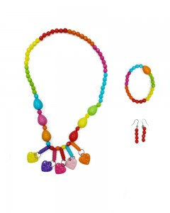 Comet Busters Cute Multicolor Beads Necklace Set For Girls