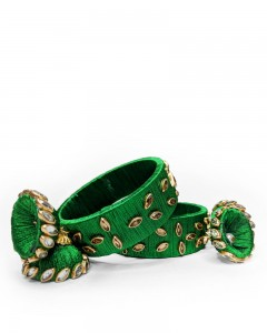 Comet Busters Traditional Green Bangles For Women