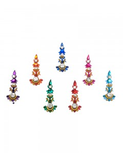 Comet Busters Multicolor Party Wear Designer Bindi