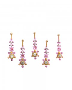 Comet Busters Pink Designer Party Wear Bindi