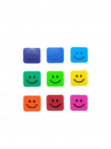 Comet Busters Children Art and Craft Smiley Stickers (Multicolor)