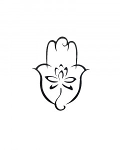 Comet Busters Temporary Hamsa With Lotus Tattoo