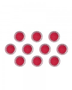 Comet Busters Traditional Round Maroon Bindi